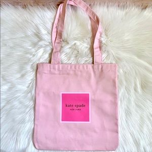 Kate Spade Pink Canvas Book Tote